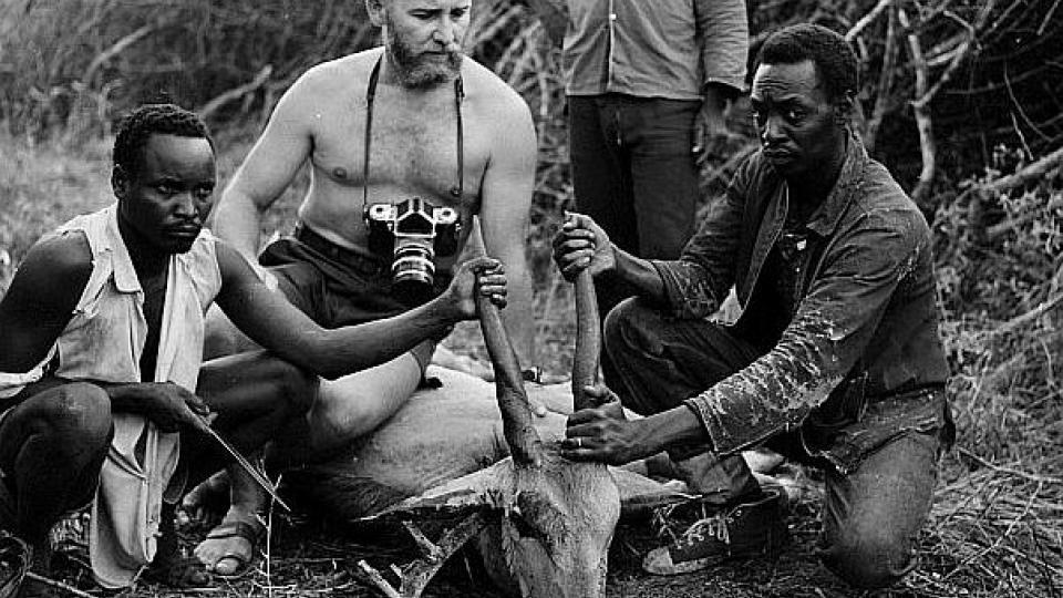 Josef Vágner na jedné ze svých afrických expedic